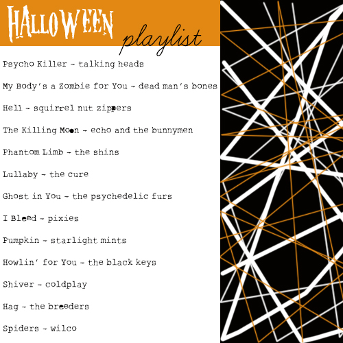 Halloween Playlist - One Stitch Two Stitch
